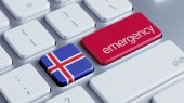 Iceland Emergency Concept — Stock Photo