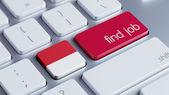 Concetto di lavoro di trovare Indonesia — Foto Stock