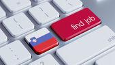 Slovenia Find Job Concept — Stock Photo