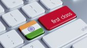 India First Class Concept — Stock Photo
