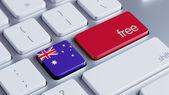 Koncept volného Austrálie — Stock fotografie