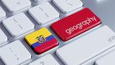 Ecuador Keyboard Concept — 图库照片
