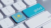 Kazakstan globala koncept — Stockfoto