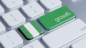 Nigérie růst Concep — Stock fotografie