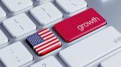 Stany Zjednoczone wzrostu Concep — Zdjęcie stockowe