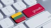 Lithuania Growth Concep — 图库照片