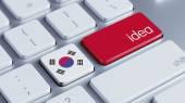 South Korea Keyboard Concept — Stockfoto