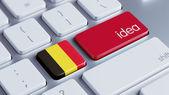 Belçika fikir kavramı — Stok fotoğraf