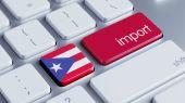 Puerto Rico Import Concept — Stockfoto