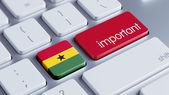 Ghana Important Concept — Stock Photo
