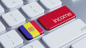 Andorra Income Concept — Stock Photo