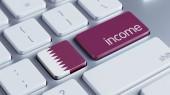 Qatar Income Concept — Stock Photo