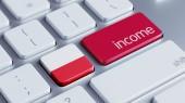 Poland Income Concept — Stock Photo