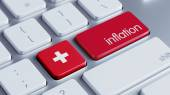 Switzerland Inflation Concep — Stock Photo