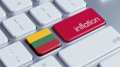 Lithuania Inflation Concep — Stock Photo