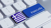 Greece Insecurity Concep — Stockfoto