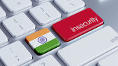 India Insecurity Concep — Stockfoto