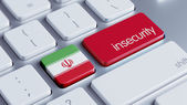 Iran Insecurity Concep — Stockfoto