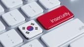 South Korea Keyboard Concept — Stock Photo