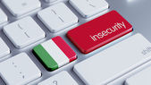 Italy Insecurity Concep — Stockfoto