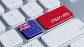New Zealand Insecurity Concep — Stockfoto