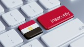 Egypt Insecurity Concep — Stockfoto