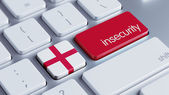 England Insecurity Concep — 图库照片