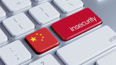 China Insecurity Concep — Stockfoto