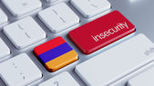Armenia Insecurity Concep — 图库照片