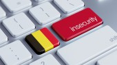 Belgium Insecurity Concep — Stockfoto
