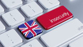 United Kingdom Insecurity Concep — 图库照片