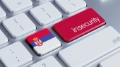 Serbia Insecurity Concep — 图库照片