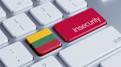 Lithuania Insecurity Concep — Stockfoto