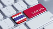 Thailand Insecurity Concep — 图库照片