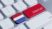 Netherlands Internet Concept — Stock Photo