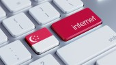Singapore Internet Concept — Stok fotoğraf
