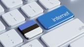 Концепция Интернет Эстонии — Стоковое фото