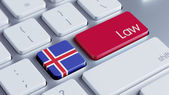 Iceland Law Concept — Stock Photo