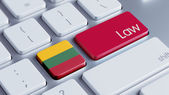 Lithuania Law Concept — Stockfoto