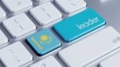 Kazakhstan Leader Concept — Stockfoto
