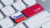 Slovenia Loan Concept — Stock fotografie