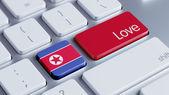 North Korea Love Concept — Stock fotografie