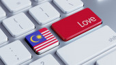 Malaysia Love Concept — Stock fotografie
