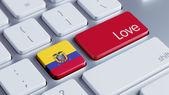Ecuador Keyboard Concept — Stock fotografie