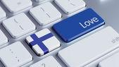 Finland Love Concept — Stock fotografie
