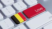 Belgium Love Concept — Stock fotografie