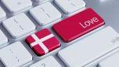 Denmark Love Concept — Photo