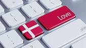 Denmark Love Concept — Stock fotografie