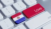 Concepto de amor de Paraguay — Foto de Stock