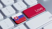 Slovakia Love Concept — 图库照片